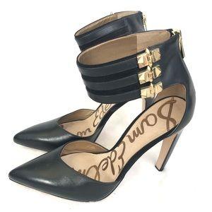 San Edelman Claire Pump Heels Black 7.5 Strap